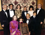 Hyman and Emma Levine family, including Sid Levine receive award with Dr. David Lieber in attendance