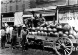 Horse Drawn Wagon Load of Watermelons