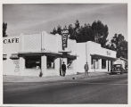 Sam's Cafe on 6th Street, the northeast corner of 6th and Edgar Streets, circa 1944.
