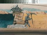 Close-up of Kern County Food Bank mural