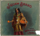 "Crate label, ""Squaw Brand."" Packed by Pattee & Lett Co. Rialto, Calif."