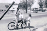 Mail delivery by bicycle in Banning, California