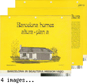 [Barcelona Homes, Altura, plan A floor plan and exterior renderings brochure].