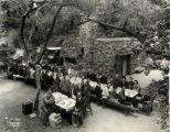 """South Pasadena American Legion Post 140 at their Cabin """"Roughhewn"""" in San Gabriel Mountains, ca 1927"""