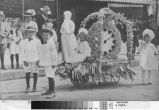 Children in the parade of the 1911 Turlock Melon Carnival.