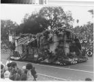 "[""Day of the Fiesta"" 1978 Rose Parade float from Mission Viejo photograph]."