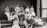 B.F. Conaway photograph of school children in Laguna Canyon