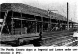 Construction of the Pacific Electric Railway Depot