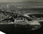 Aerial view of Coronado looking east over San Diego Bay, c. 1930.