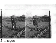 Yard man placing switch lamps. D.L. and W.R.R. New Jersey