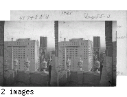 From roof of N.P. Anderson Bldg. at 7th & Lamar St. Looking N.E. along 7th St., to Fort Worth Club Bldg. at left and to Farmers & Mechanic Bank Bldg. Fort Worth. Texas.