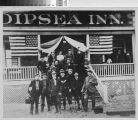 Members of the Olympic Club in front of the Dipsea Inn
