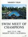 [Swim Meet of Champions 1986 program cover].