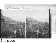 """Horror-strewn acres of death and ruin - Path of the """"Red-Hot Hurricane."""" St. Pierre, Martinique, F.W.I."""