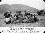 Geographers at Clark Lake desert / Lee Passmore
