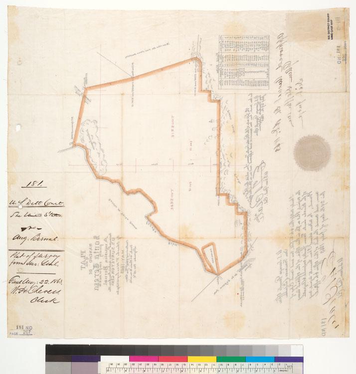 Santa Teresa California Map.Plat Of The Rancho De Santa Teresa Finally Confirmed To Augustin