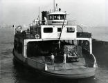"The ferry boat ""Coronado"" departs for San Diego, January, 1953"