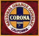 "Crate label, ""National Orange Company."" Corona Brand."