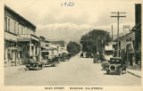 "Photographic postcard of """"Main Street"""" in downtown Banning, California"