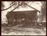 "Mounted photograph of the Bird Family house called, """"The Bird Nest"""" in Banning, California"