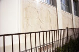 View of the far left panels of The Legend of California bas relief by Donal Hord.