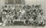 Susan B. Coombs with her 2nd Grade class in Banning, California in 1932