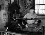William Parker Lyon Pony Express Museum--Printing Machine