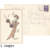 Postcard from musician Spike Jones to Bill Henry