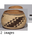 Hupa, Karok, or Yurok storage basket