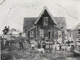 Family dairy farm, Santa Barbara near Cabrillo and Milpas : circa 1920.