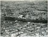 Aerial photograph of Modesto, California, circa 1948.