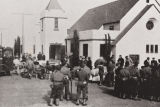 Evacuation of the Santa Maria Japanese to Tulare Assembly Center from the Christ United Methodist Church, 219 N. Mary Dr., Santa Maria : April 30, 1942.