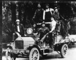 Old Pacific Gas and Electric Truck with workers