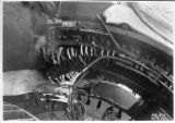 Interior of Powerhouse, Stator coils raised to fit upper and lower half together, Balch Powerhouse