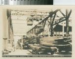 Monorail, and bridge crane & sorting tables