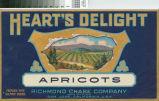 Heart's Delight Fruit Crate Label