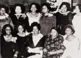 Ladies of San Luis Obispo Springfield Baptist Church at a Christmas party : 1970.