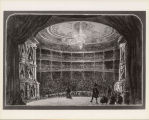 [Photograph of drawing of the interior of the Grand Opera House]