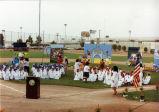 Preschoolers at Veterans Memorial Park Stadium