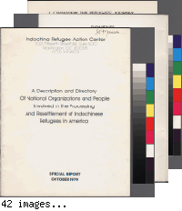 A Description and Directory of National Organizations and People Involved in the Processing and Resettlement of Indochinese Refugees In America