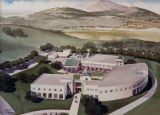 Photograph of artist's rendering of Contra Costa Campus.
