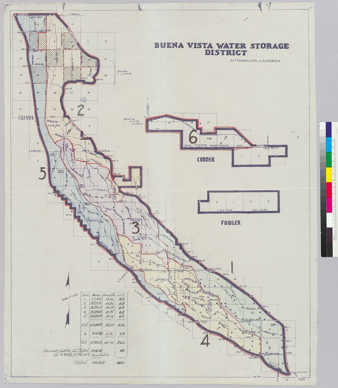 Buena Vista Water Storage District Buttonwillow California map